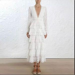 Dresses & Skirts - White lace wedding party dress